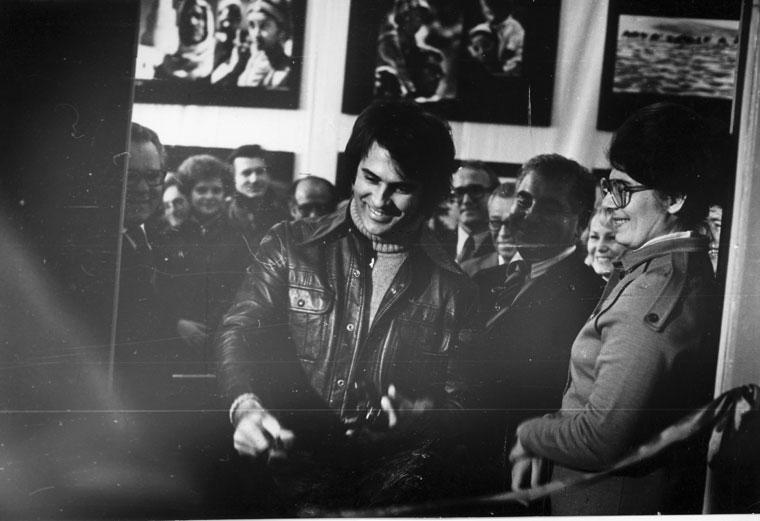 Omszki kiállításom megnyitója (Metzger felvétele)