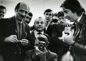 Szovjet fotóriporterek társaságában, Omszk, 1981.10.23. (Metzger felvétele)