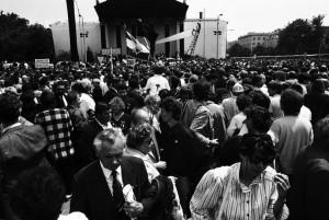 Nagy Imre újratemetése, Budapest, Hősök-tere, 1989.06.16. (Photo: Eifert János)