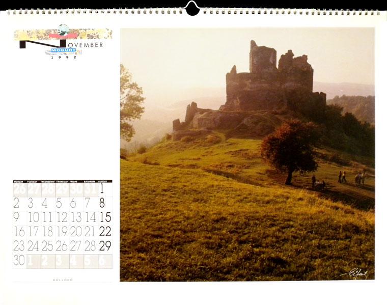1992-MOGÜRT-naptár-Hollókő, Photo: Eifert János