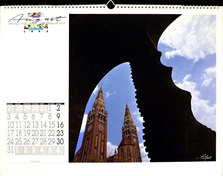 1992-MOGÜRT-naptár, Photo: Eifert János