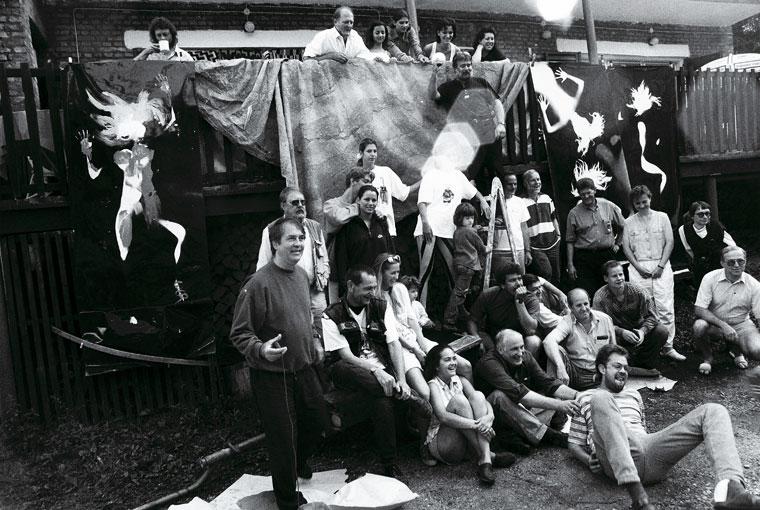 1997.08.09. Sebesvíz Workshop, mókás csoportkép