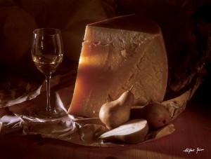 Eifert János: Sajtos csendélet / Cheese Still Life (1977)
