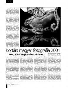 Eifert János cikke a FotoVideo 2002/1-2. számában, a Kortárs magyar fotográfia 2001. rendezvényről