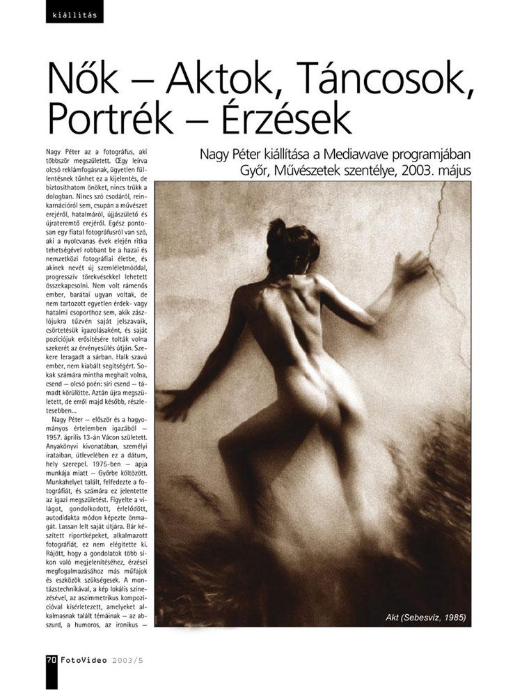 FotoVideo 2003/5 - Eifert János írása Nagy Péterről-01