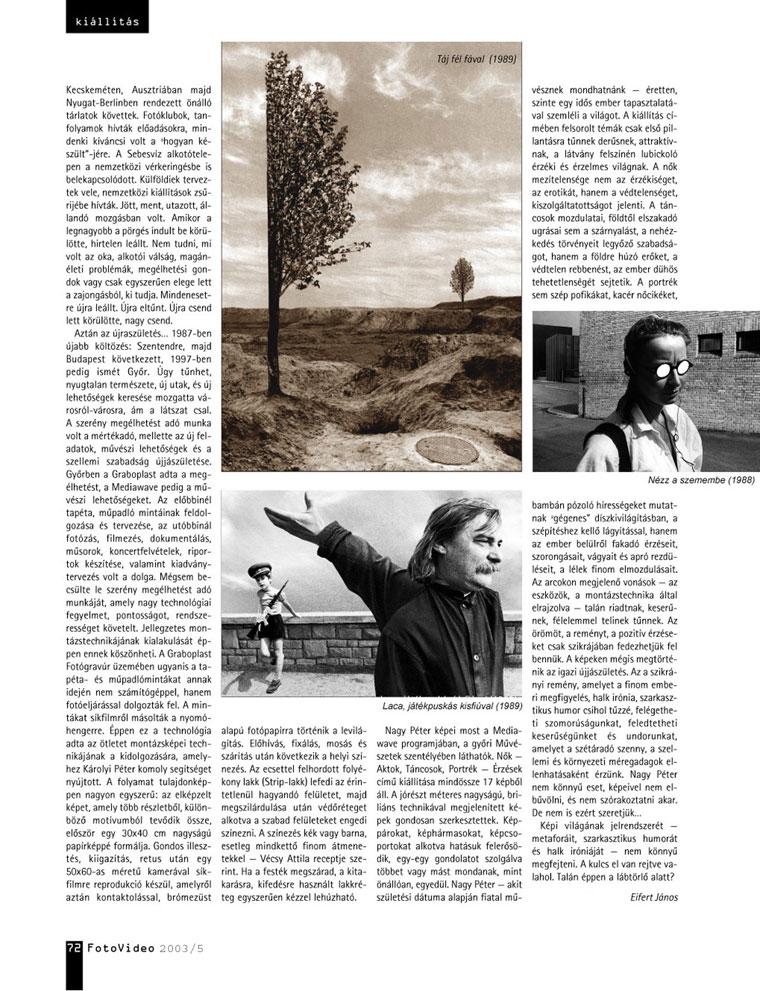 FotoVideo 2003/5 - Eifert János írása Nagy Péterről-02