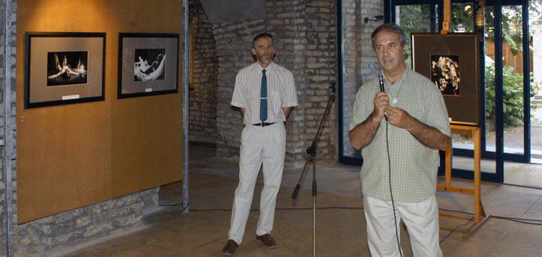 Eifert János megnyitja a kiállítást