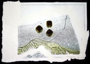 Eifert János: Három kocka (2003) - digitális print, merített papír
