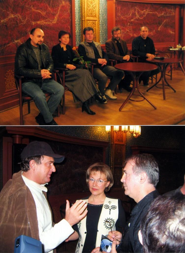 Turczi István, Bayer Ilona, Eifert János a filmbemutatón