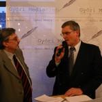 Hajba Ferenc és a polgármester, Győri MédiKlub, 2005.02.03.