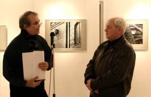 Eifert János, Féner Tamás kiállítását nyitja meg (Szabó Béla felvétele)