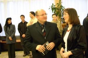 Papp-Elek kiállításának megnyitóján, győr, 2005.02.25.