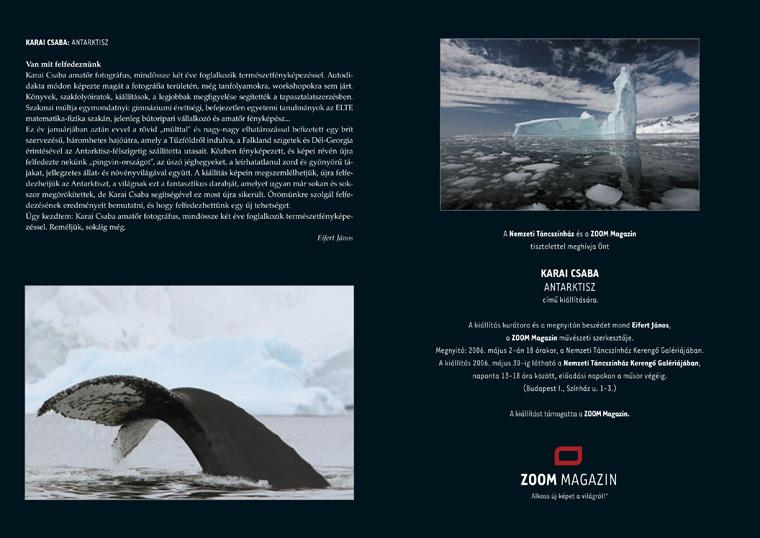 ZOOM Kiállitás, Karai Csaba: Antarktisz