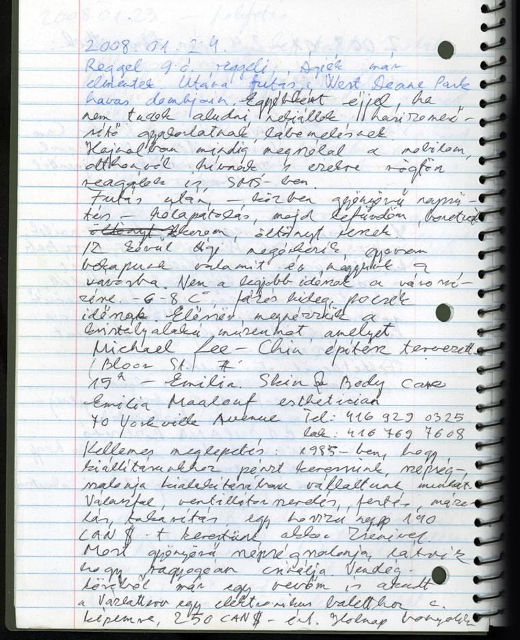 Amerikai napló, Toronto Ontario, Kanada, 2008.01.24.