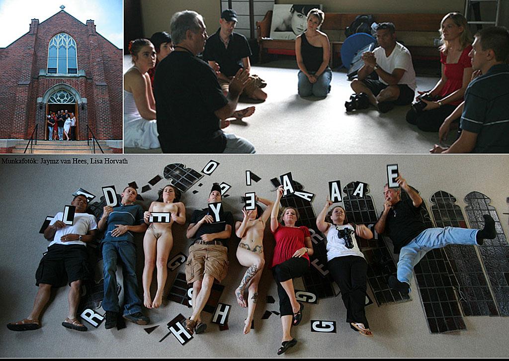 Eifert aktworkshop Jaymz van Hees műtermében. Waterdawn, Kanada, 2008.08.08. (Lisa Horvath és Jaymz van Hees felvételei)