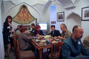 Reggeli a karaván-szerájban (Bukhara, Üzbegisztán, 2008.-10.23.)