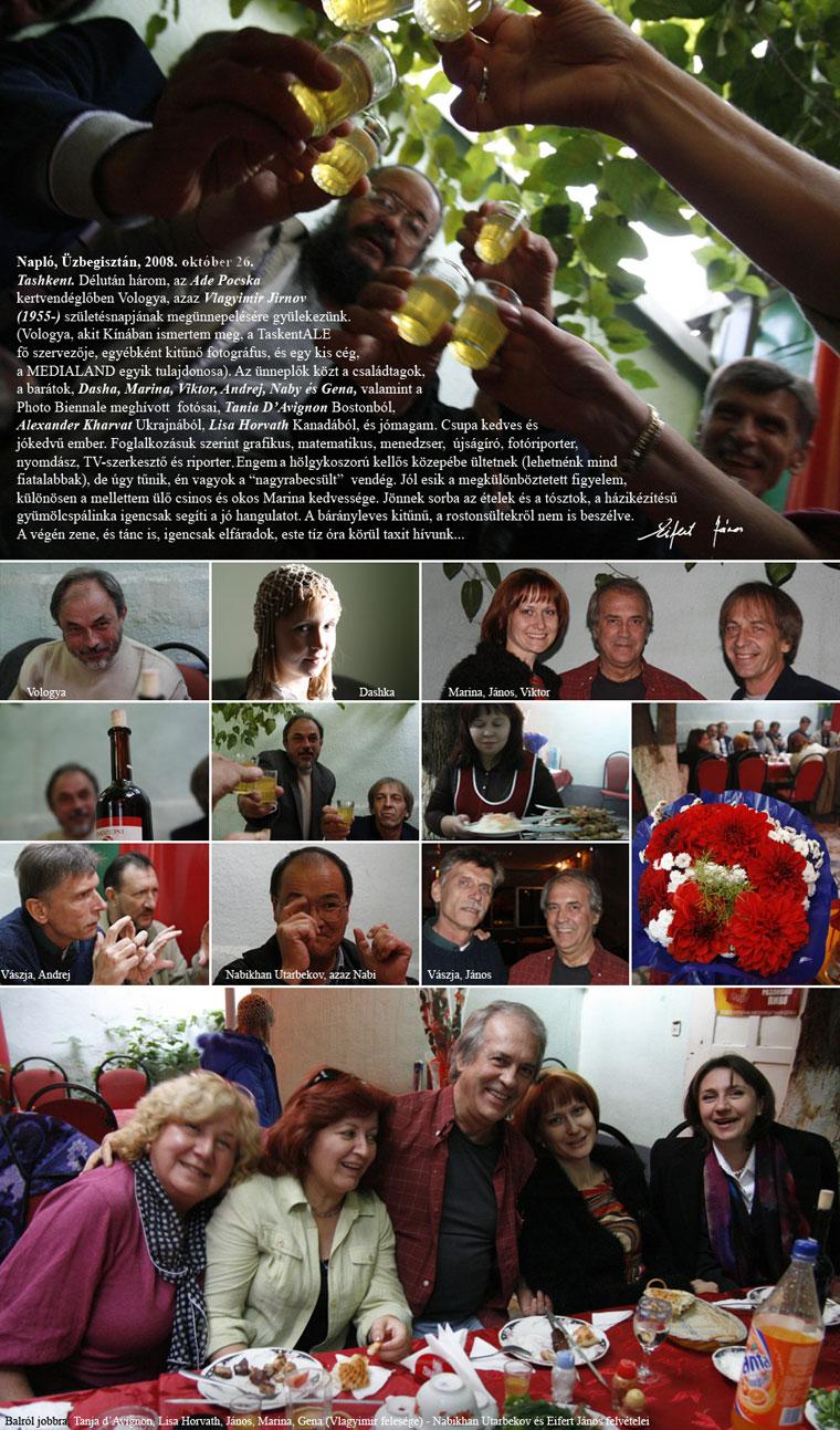 Taskent, Jirnov születésnapját ünnepeljük, 2008.10.26.