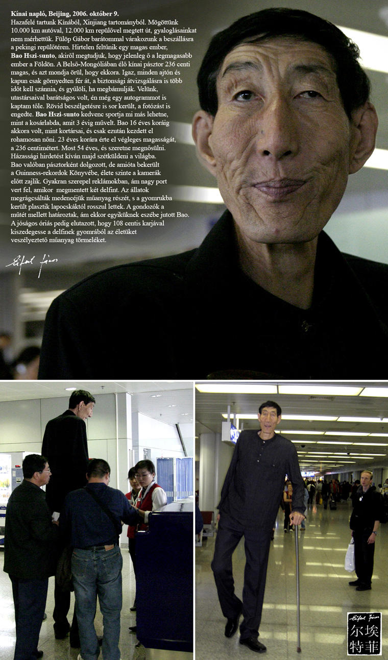 Bao Hszi-sunto, a világ legmagasabb embere