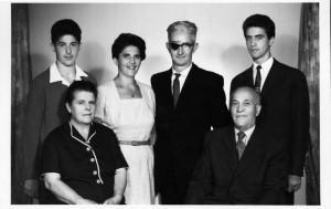 Családi kép, Törzsök József és neje, Bódi Károly és neje (Hódmezõvásárhely, 50-es évek)