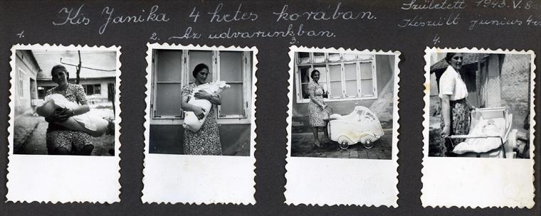 Anyámmal, négyhetes és 2 hónapos koromban, Hmvhely, 1943. jún. 4