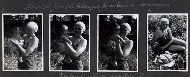 Anyámmal, 3 és fél hónapos koromban, Kakasszékfürdõ, 1943. aug.