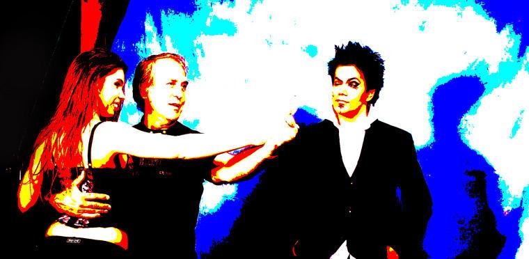Eifert modelljeit instruálja a Kreatív Stúdióban (Gyula, 2009)