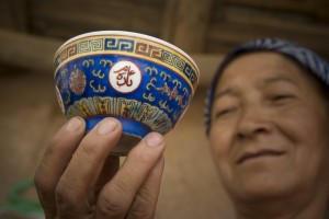 teáscsésze, Kína, Xinjiang, Kashgar - Photo: Eifert János