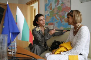 Bulgaria, Bansko, Móger Ildikó interjút ad - Photo: Eifert János