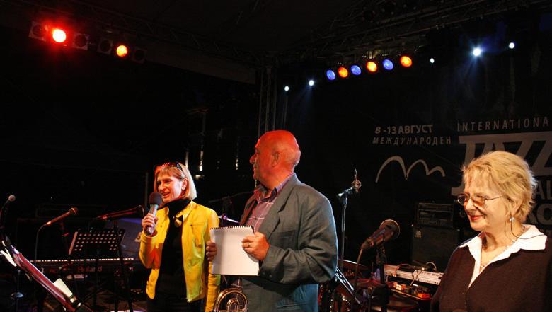 Móger Ildikó a színpadon, Bansko, Bulgaria - Photo: Eifert János