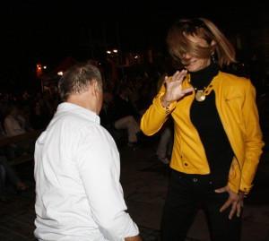 János és Ildi táncol, Bansko, Bulgaria