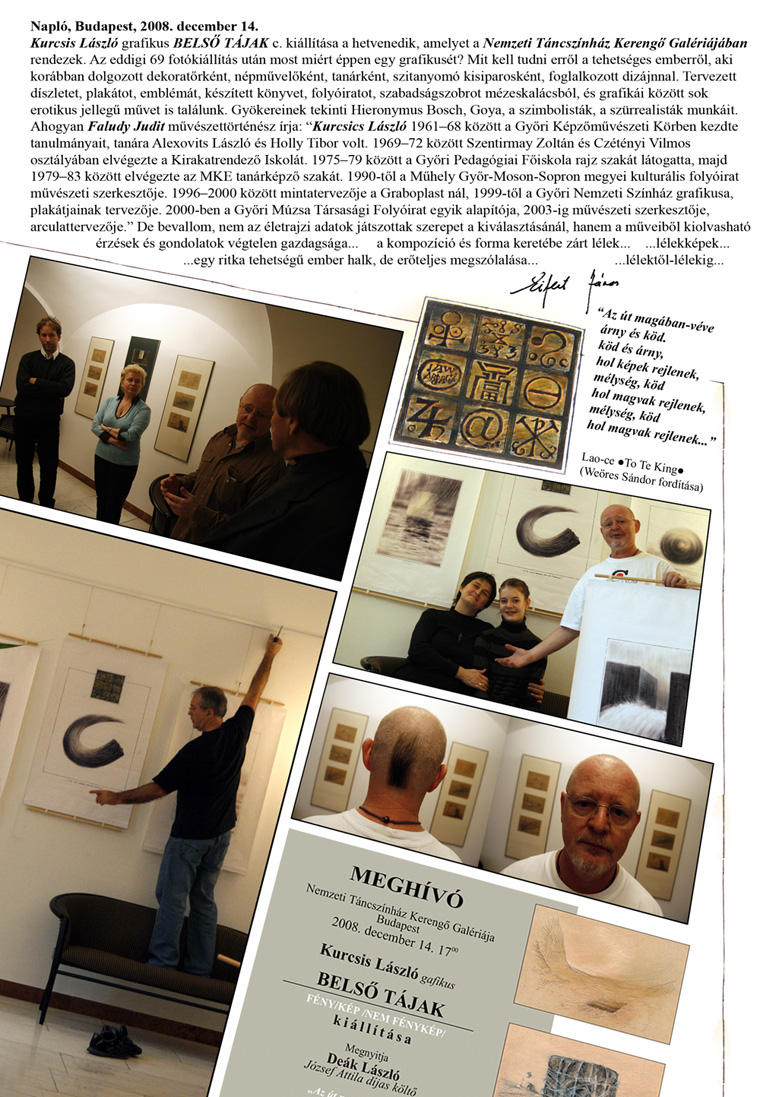 Kurcsis László kiállítása, Kerengő Galéria