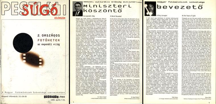 2-Országos-Fotóhetek-1999-műsorfüzet