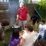 Kerti-party-hússütés