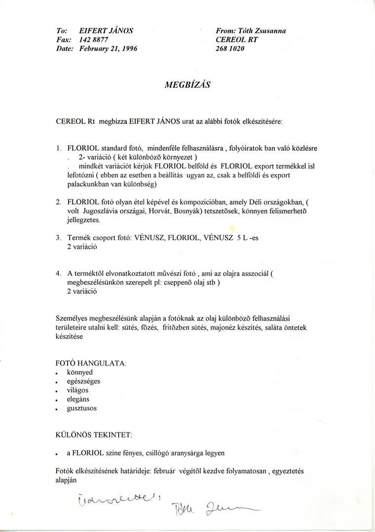 Cereol-megbízás-1996.02.21