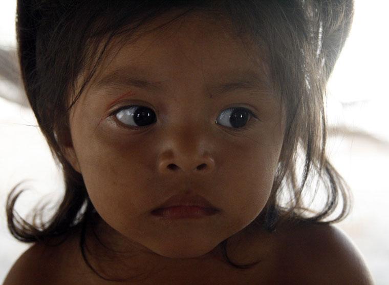 Mexikó-Coba-kislányportré