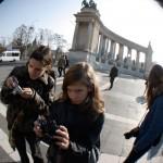Budapest-Hősök-tere-Fényképező-tanítványaim