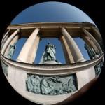 Budapest-Hősök-tere-szobor-halszemmel