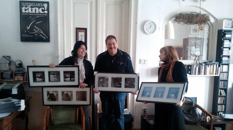 Karacsné Zagyva Julika és Karacs József a négy kép tulajdonosai.