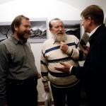 Vinko Šebrek kiállítás-megnyitó, középen: Lennert Géza