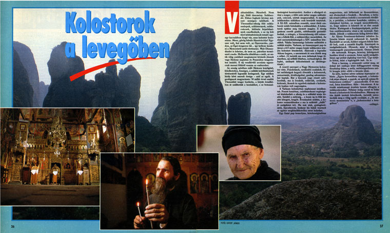 Meteora, Görögország, Magyar Nők Lapja, 1992.02.01