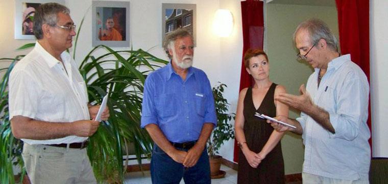 Gosztonyi Pál kiállítását Eifert János nyitja meg (Photo: Kapusy György)