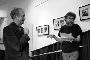 Eifert János KÉPNOVELLÁK  c. kiállítását Katkó Tamás nyitja meg (Eöri Szabó Zsolt felvétele)