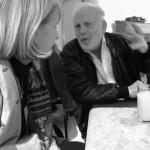 Szófia-Ichak-Finci-színésszel, a Csontváry-film főszereplőjével