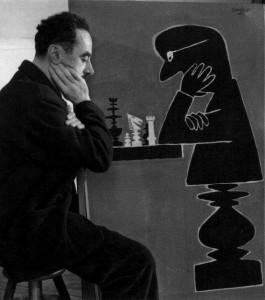 Robert Doisneau: Savignac aux échecs (1950)