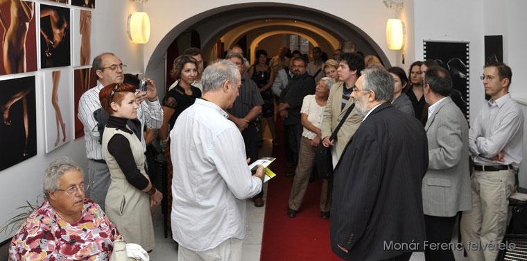 Eifert János megnyitja Velican-Patrus Dóra és Patrus Sándor kiállítását (Molnár Ferenc felvétele)