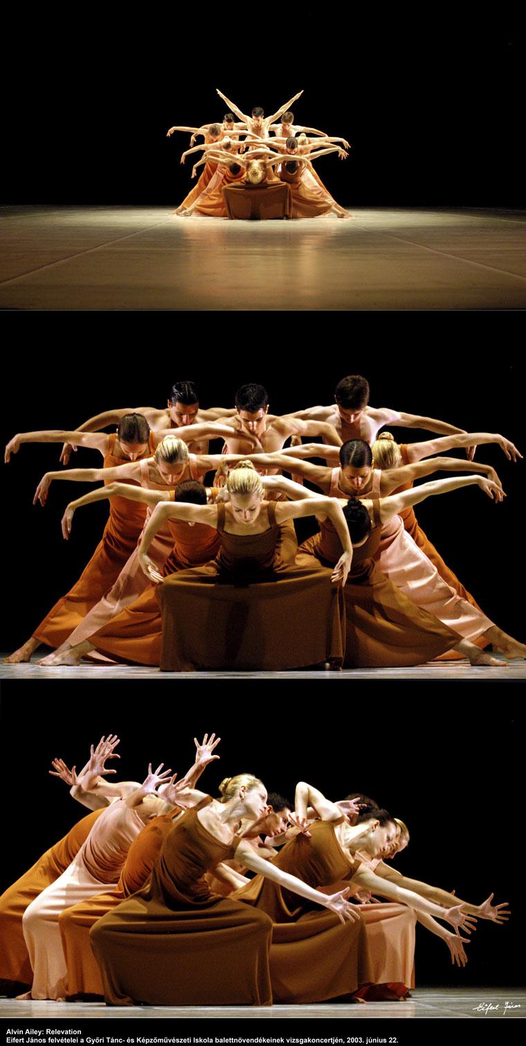 Alvin-Ailey: Relevation, a győri Tánc- és Képzőművészeti Szakiskola balettnövendékeinek vizsgaelőadásán (Győr, 2003. június