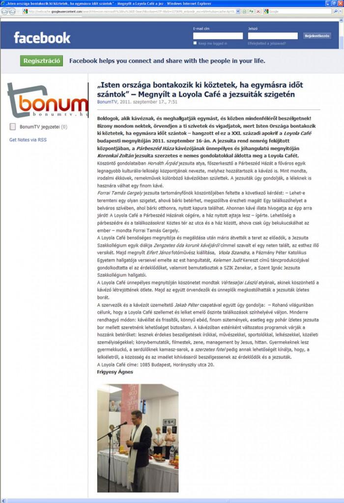 BonumTV, 2011.09.17.