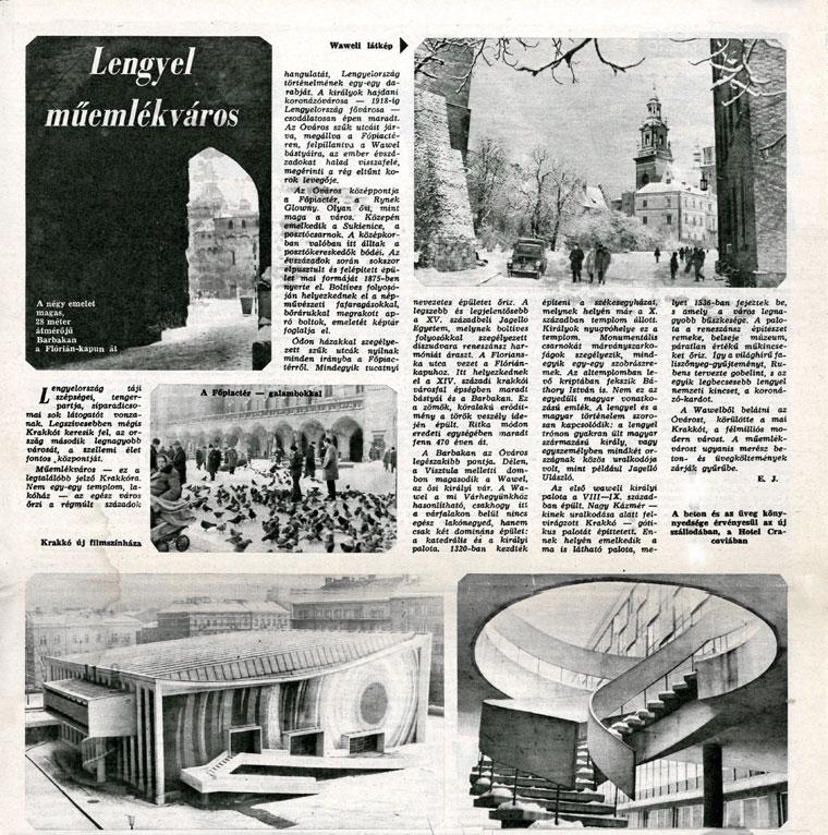 Eifert János: Lengyel műemlékváros - A Hazáért, 1968. január 24.