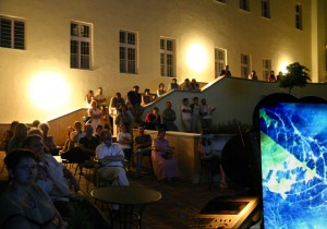 Eifert János diaporáma vetítése, Fényfestészeti Napok, Kaposvár, 2005. május 28.
