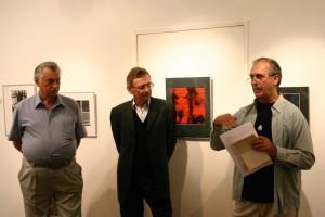 Eifert János megnyitja a Fotografikák 2. című kiállítást, Vác, 2005.09.23.